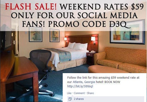 Atlanta- Hotel-Facebook-promotion