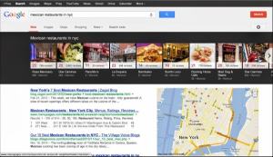 Image of Google carousel showing multiple images results at top of search results